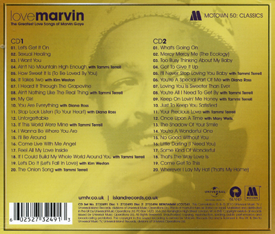 Marvin Gaye Rear CD Cvr