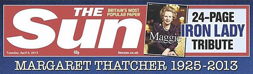 The Sun - Thatcher